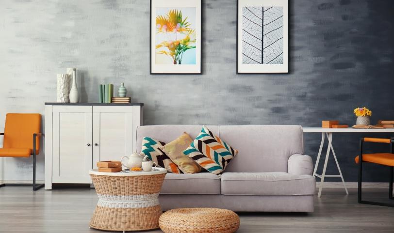 Digitale Immobilienverwaltung Sofa Kissen